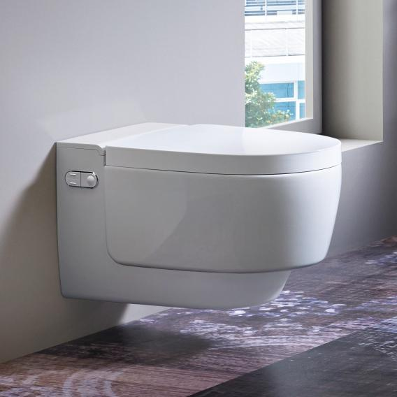 Geberit AquaClean Mera Classic complete shower toilet set, with toilet seat white