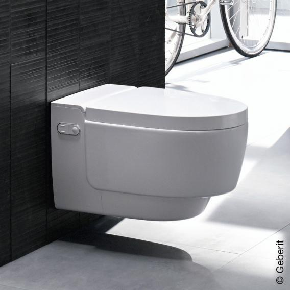 Geberit AquaClean Mera Comfort shower toilet with night light, complete set, with toilet seat white