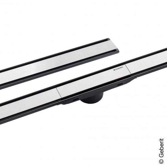 Canal De Ducha Geberit Cleanline60 Geberit 154.457.00.1 L30-130Cm Metal Oscuro//Metal Cepillado