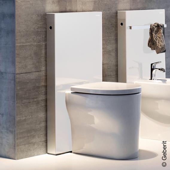 Geberit Monolith sanitary module for floor-standing toilet H: 101 cm, glass white
