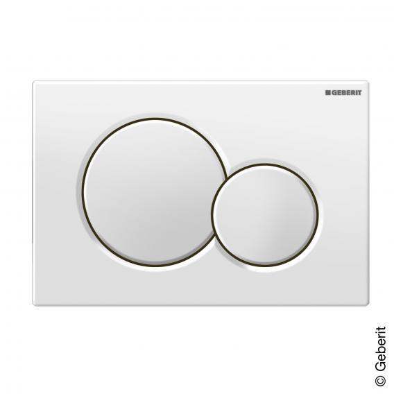Geberit Sigma01 flush plate for dual flush system white