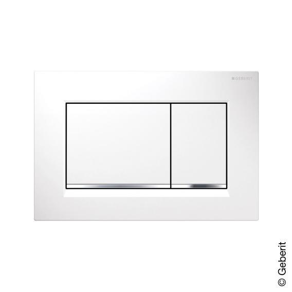 Geberit Sigma30 flush plate for dual flush system white/chrome