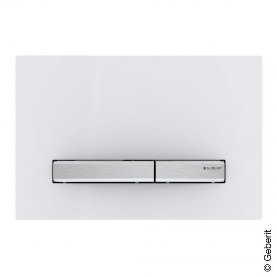 Geberit Sigma50 flush plate for dual-flush system white/chrome