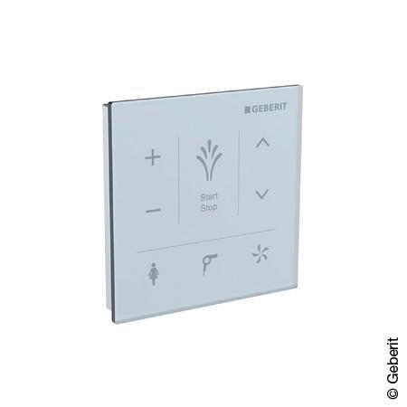 Geberit AquaClean Mera and Tuma Comfort wall Control panel white