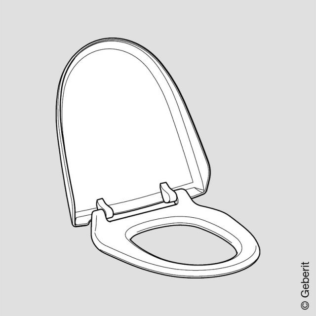 Geberit AquaClean toilet seat with toilet lid
