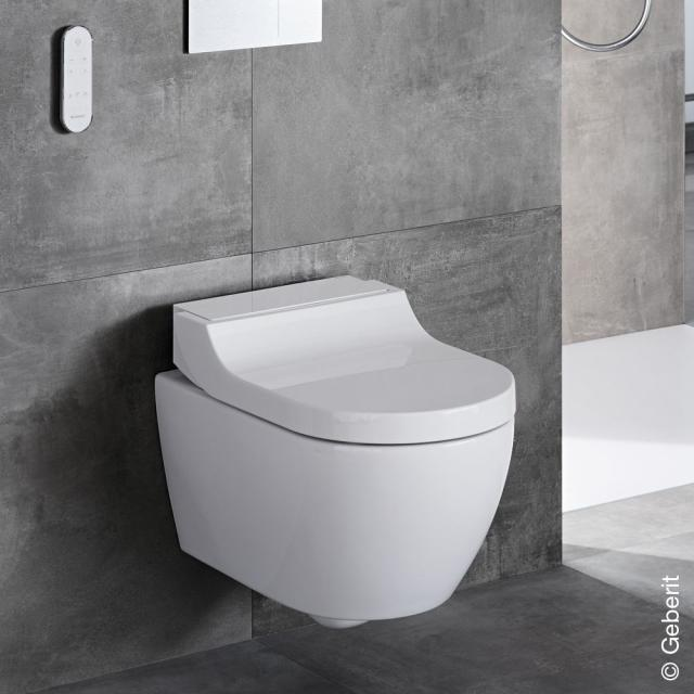 Geberit AquaClean Tuma Comfort complete shower toilet set, with toilet seat white