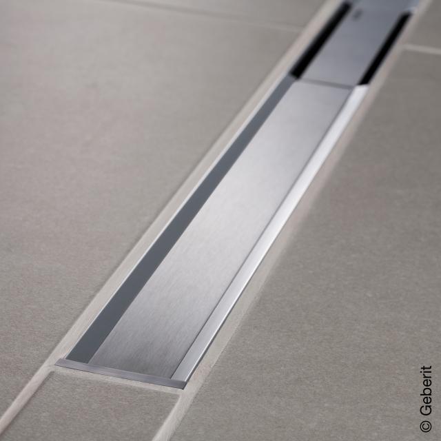 Geberit CleanLine 20 shower channel polished stainless steel / brushed stainless steel, for shower channel: 30 - 160 cm