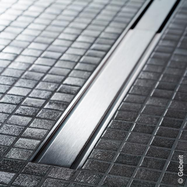 Geberit CleanLine 60 shower channel for thin floor coverings brushed stainless steel, for shower channel: 30 - 90 cm