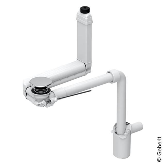 Geberit Clou waste set with lever operation and compact siphon chrome