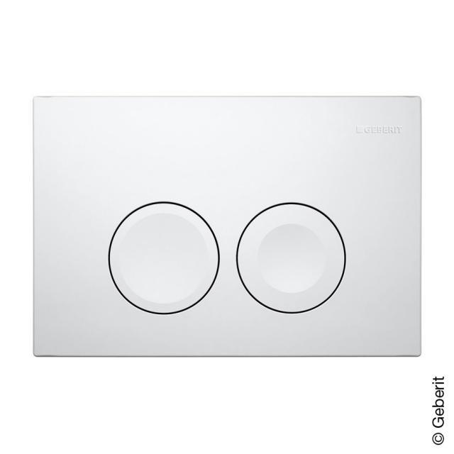 Geberit Delta21 flush plate for dual flush mechanism white