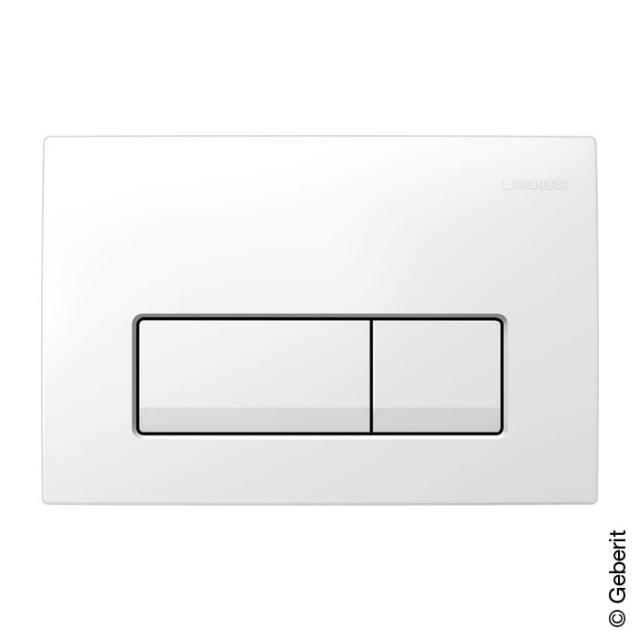 Geberit Delta51 flush plate for dual flush mechanism white