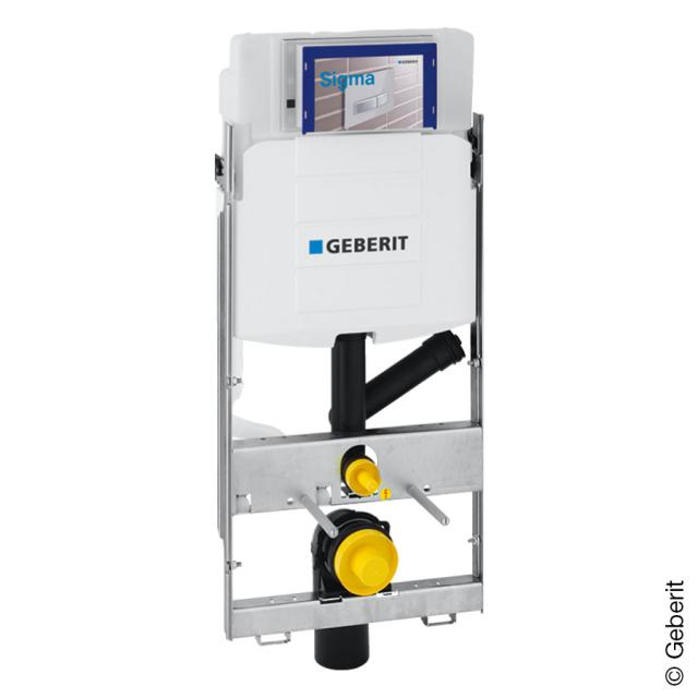 Geberit GIS wall-mounted toilet element,  H: 114 cm with UP320 concealed cistern for DuoFresh odour extraction