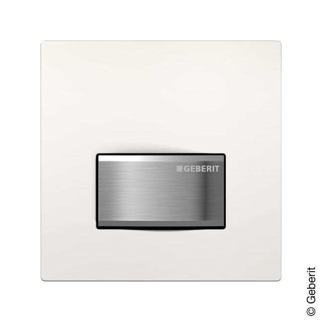 Geberit HyTouch pneumatic urinal hand release, Sigma50 Design white/brushed chrome