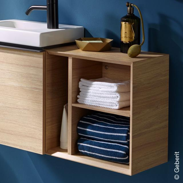 Geberit iCon side unit with 3 compartments natural oak