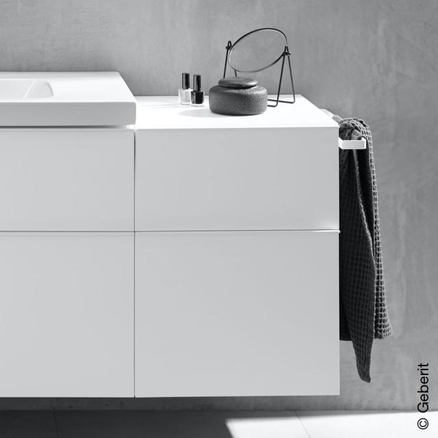 Geberit iCon side unit with 2 pull-out compartments front white high gloss / corpus white high gloss, handle matt white