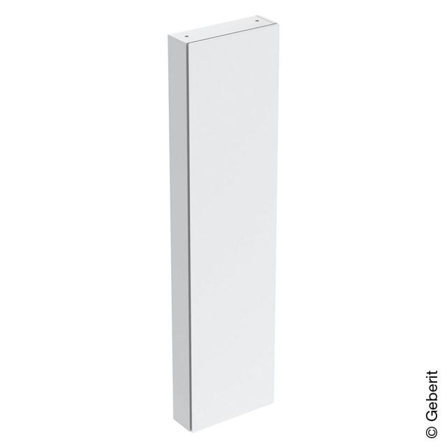 Geberit iCon tall unit with 1 door and mirror inside front white high gloss / corpus white high gloss