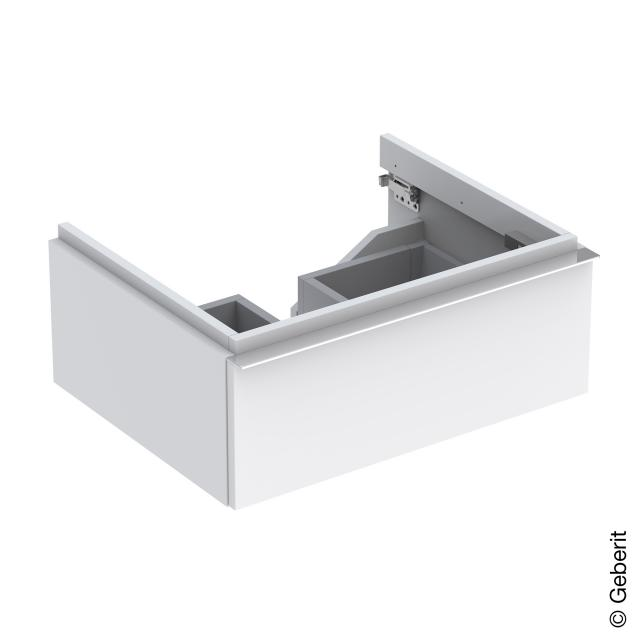Geberit iCon vanity unit with 1 pull-out compartment front alpine high gloss/corpus alpine high gloss