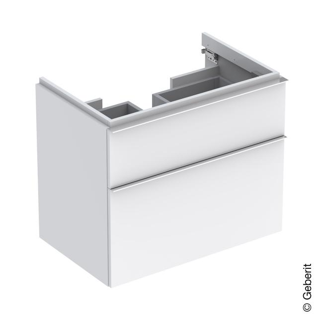 Geberit iCon vanity unit with 2 pull-out compartments front alpine high gloss / corpus alpine high gloss