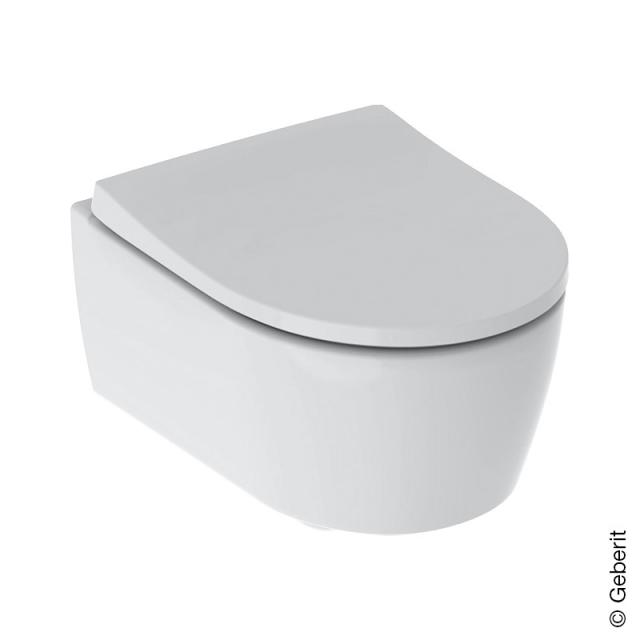 Geberit iCon wall-mounted, washdown toilet with toilet seat, short version