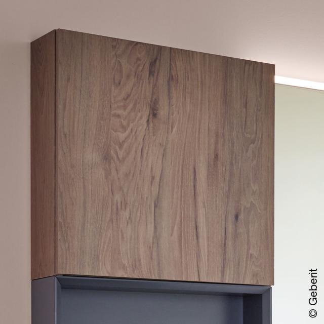 Geberit iCon wall unit with 1 door front walnut hickory / corpus walnut hickory