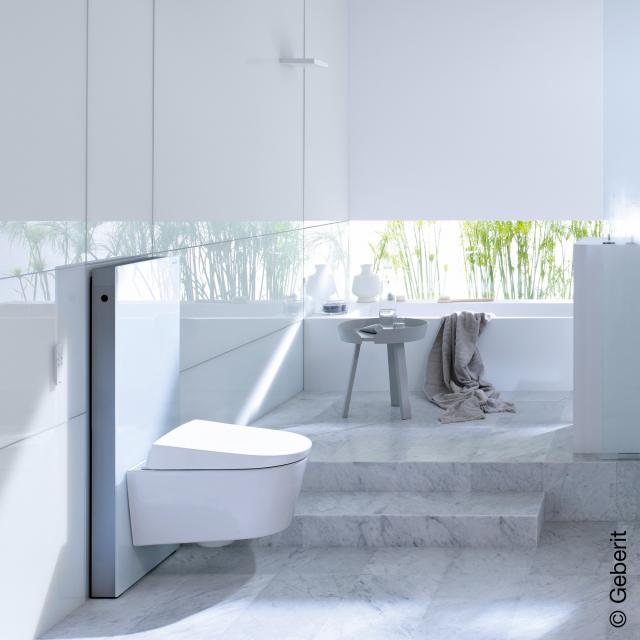Geberit Monolith sanitary module for wall-mounted toilet H: 101 cm, white glass