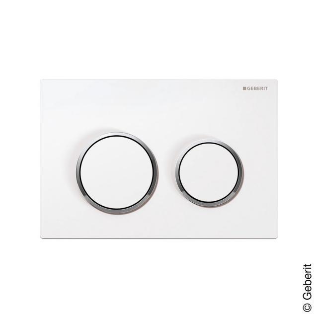Geberit Omega20 flush plate for dual flush mechanism white/chrome/white