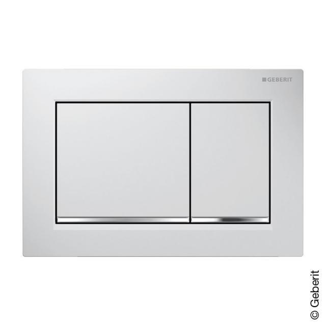 Geberit Omega30 flush plate for dual flush mechanism white/chrome/white