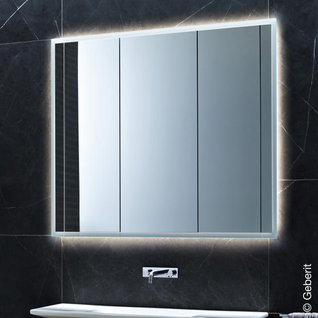 Geberit ONE mirror cabinet with LED lighting with 3 doors