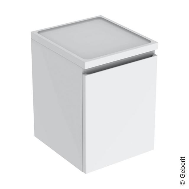 Geberit Renova Plan side unit with 1 pull-out compartment front white high gloss / corpus white high gloss