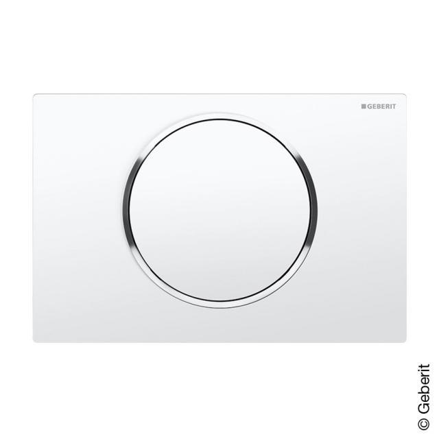 Geberit Sigma10 flush plate for single flush system white/chrome/white