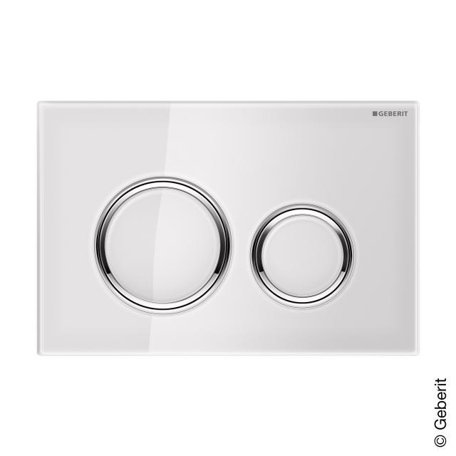 Geberit Sigma21 flush plate for dual-flush system white/chrome
