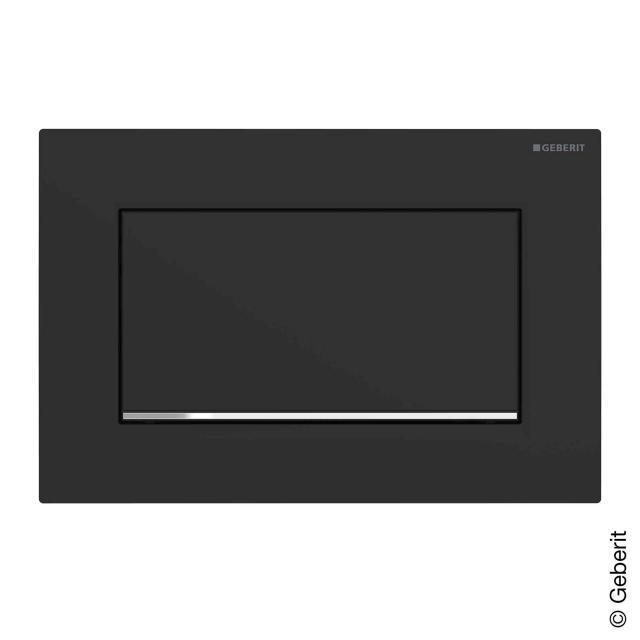 Geberit Sigma30 flush plate for start/stop flush mechanism, screwable matt black/chrome
