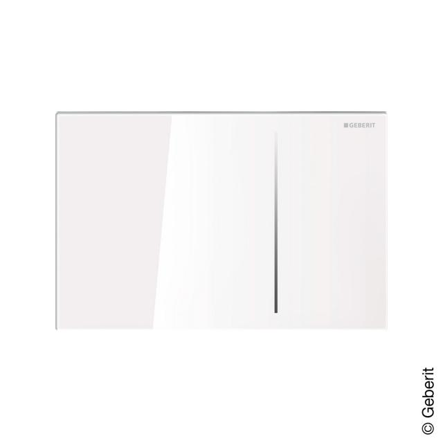 Geberit Sigma70 flush plate for dual-flush system white glass