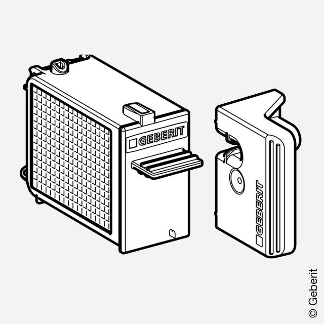 Geberit slot with filter for DuoFresh module