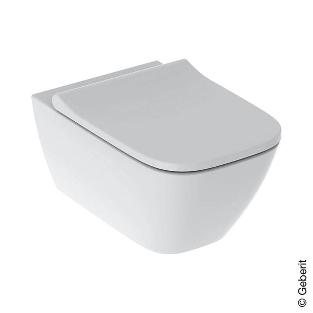 Geberit Smyle Square wall-mounted, washdown toilet with toilet seat