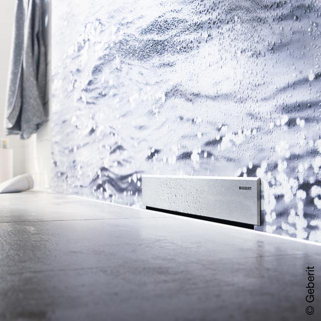 Geberit trim set for wall drain brushed stainless steel