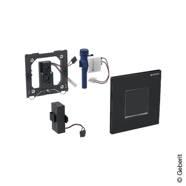 Geberit Type 30 urinal control with electronic flush, with sensor, battery operated black