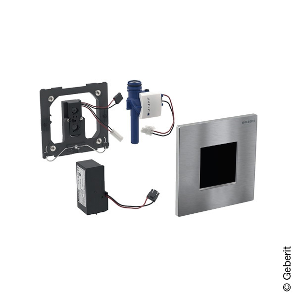 Geberit Type 30 urinal control with electronic flush, with sensor, mains operated brushed chrome