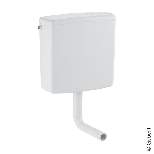 Geberit wall-mounted cistern AP140 with dual flush, screw-on cover