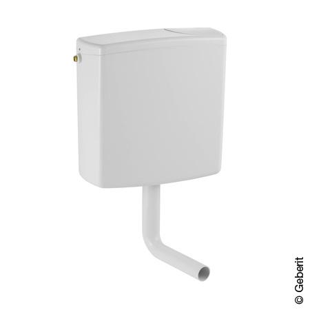 Geberit wall-mounted cistern AP140 with start/stop flush, screw-on cover