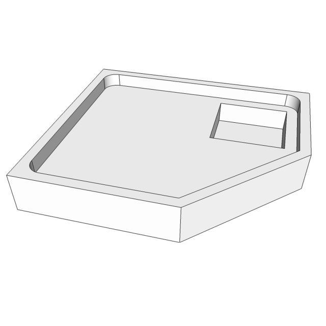 Schröder shower tray support for Asta F