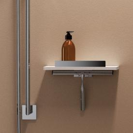 Giese Noka shower console with hook and squeegee
