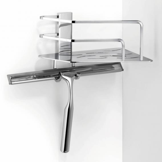 Giese Seaside corner shower basket with hook and squeegee