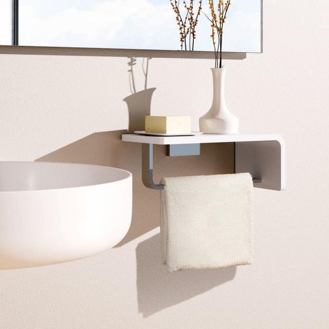 Giese Noka washbasin console with towel rail