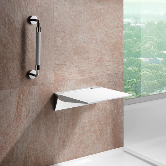 Giese Safeline folding shower seat white/chrome