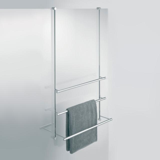Giese Server towel rail for glass shower panel width: 650 mm