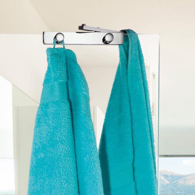 Giese Sky four hooks with swivel hooks for glass shower panel
