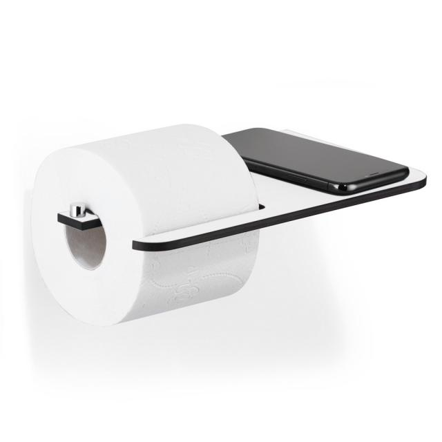 Giese toilet roll holder with shelf surface white