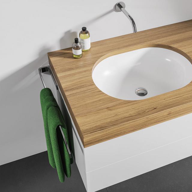 Giese towel bar for bathroom furniture total length: 400 mm