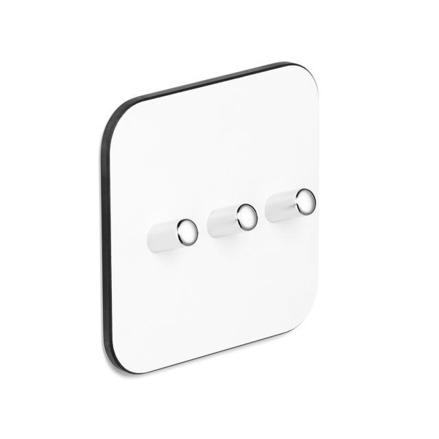 Giese Universal row of hooks white/chrome